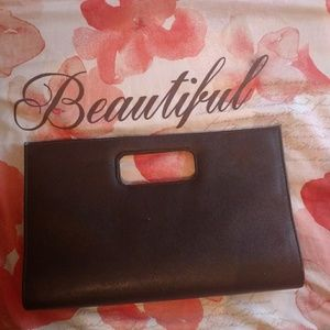 Handbags - Faux Leather Clutch